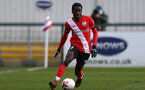 SOUTHAMPTON, ENGLAND - FEBRUARY 07: Lucas Defise of Southampton during the Premier League 2 match between  Southampton B Team and Tottenham Hotspur at Snows Stadium on February 07, 2021 in Southampton, England. (Photo by Isabelle Field/Southampton FC via Getty Images)