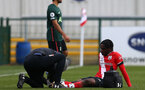 SOUTHAMPTON, ENGLAND - FEBRUARY 07: Zuriel Otseh-Taiwot of Southampton during the Premier League 2 match between  Southampton B Team and Tottenham Hotspur at Snows Stadium on February 07, 2021 in Southampton, England. (Photo by Isabelle Field/Southampton FC via Getty Images)