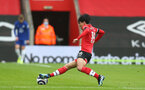 SOUTHAMPTON, ENGLAND - FEBRUARY 20: Takumi Minamino of Southampton during the Premier League match between Southampton and Chelsea at St Mary's Stadium on February 20, 2021 in Southampton, England. Sporting stadiums around the UK remain under strict restrictions due to the Coronavirus Pandemic as Government social distancing laws prohibit fans inside venues resulting in games being played behind closed doors. (Photo by Matt Watson/Southampton FC via Getty Images)