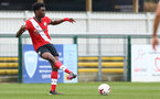 SOUTHAMPTON, ENGLAND - FEBRUARY 21: David Agbontohoma   of Southampton during Premier League 2 match between Southampton B Team and Derby County U23s at The Snows Stadium on February 21, 2021 in Southampton, England. (Photo by Isabelle Field/Southampton FC via Getty Images)