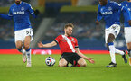 LIVERPOOL, ENGLAND - MARCH 01: Stuart Armstrong of Southampton during the Premier League match between Everton and Southampton at Goodison Park on March 01, 2021 in Liverpool, England. Sporting stadiums around the UK remain under strict restrictions due to the Coronavirus Pandemic as Government social distancing laws prohibit fans inside venues resulting in games being played behind closed doors. (Photo by Matt Watson/Southampton FC via Getty Images)