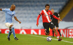 MANCHESTER, ENGLAND - MARCH 10: Caleb Watts of Southampton during the Premier League match between Manchester City and Southampton at Etihad Stadium on March 10, 2021 in Manchester, England. Sporting stadiums around the UK remain under strict restrictions due to the Coronavirus Pandemic as Government social distancing laws prohibit fans inside venues resulting in games being played behind closed doors. (Photo by Matt Watson/Southampton FC via Getty Images)