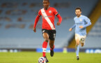 MANCHESTER, ENGLAND - MARCH 10: Ibrahima Diallo of Southampton during the Premier League match between Manchester City and Southampton at Etihad Stadium on March 10, 2021 in Manchester, England. Sporting stadiums around the UK remain under strict restrictions due to the Coronavirus Pandemic as Government social distancing laws prohibit fans inside venues resulting in games being played behind closed doors. (Photo by Matt Watson/Southampton FC via Getty Images)