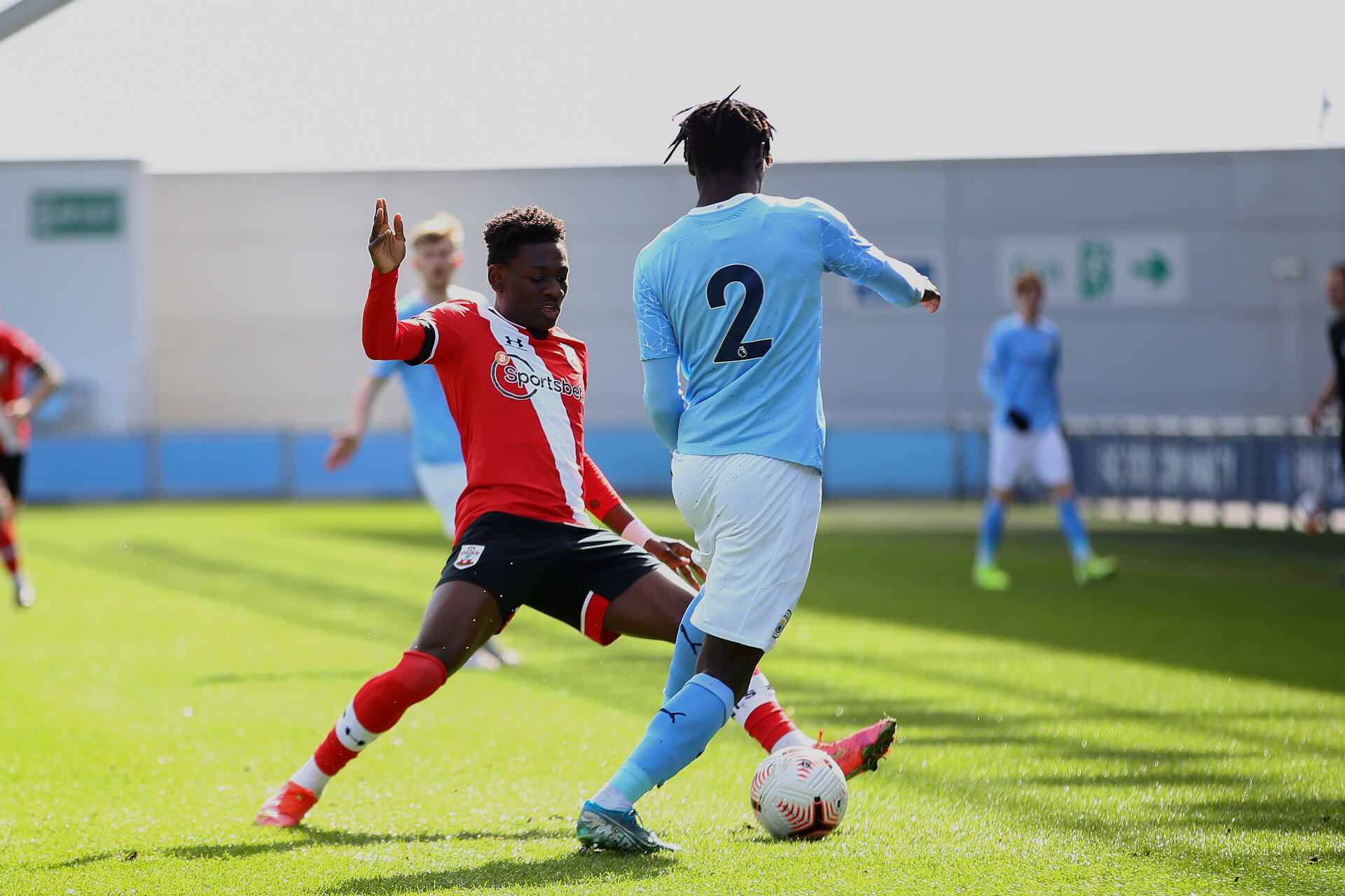 MANCHESTER, ENGLAND - MARCH 15:  during the Premier League 2 match between Manchester City and Southampton B Team at the City Football Academy on March 15, 2021 in Southampton, England.  (Photo by Isabelle Field/Southampton FC via Getty Images)