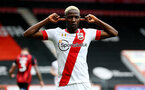BOURNEMOUTH, ENGLAND - MARCH 20: Moussa Djenepo of Southampton celebrates after opening the scoring during the Emirates FA Cup Quarter Final match between AFC Bournemouth and Southampton at the Vitality Stadium on March 20, 2021 in Bournemouth, England. (Photo by Matt Watson/Southampton FC via Getty Images)