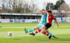 SOUTHAMPTON, ENGLAND - MARCH 21: Will Ferry (R) of Southampton during the Premier League 2 match between Southampton B Team and Liverpool at the Snows Stadium on March 21, 2021 in Southampton, England.  (Photo by Isabelle Field/Southampton FC via Getty Images)