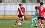 SOUTHAMPTON, ENGLAND - MARCH 21: Ethan Burnett  of Southampton during the Premier League 2 match between Southampton B Team and Liverpool at the Snows Stadium on March 21, 2021 in Southampton, England.  (Photo by Isabelle Field/Southampton FC via Getty Images)