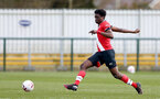 SOUTHAMPTON, ENGLAND - MARCH 21: David Agbontohoma  of Southampton during the Premier League 2 match between Southampton B Team and Liverpool at the Snows Stadium on March 21, 2021 in Southampton, England.  (Photo by Isabelle Field/Southampton FC via Getty Images)