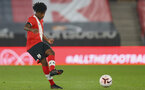 SOUTHAMPTON, ENGLAND - MARCH 23: Josh Lett of Southampton  during the FA Youth Cup fourth round match between Southampton and Burton Albion at St Mary's Stadium on March 23, 2021 in Southampton, England. (Photo by Isabelle Field/Southampton FC via Getty Images)