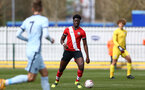 SOUTHAMPTON, ENGLAND - MARCH 27: Leon Pambou of Southampton during the Premier League U18s match between Southampton U18 and  Chelsea at Snows Stadium on March 27, 2021 in Southampton, England. (Photo by Isabelle Field/Southamtpon FC)