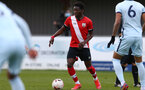 SOUTHAMPTON, ENGLAND - MARCH 27: Kazeem Olaigbe of Southampton during the Premier League U18s match between Southampton U18 and  Chelsea at Snows Stadium on March 27, 2021 in Southampton, England. (Photo by Isabelle Field/Southamtpon FC)