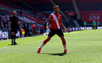 SOUTHAMPTON, ENGLAND - APRIL 04: Danny Ings of Southampton celebrates after making it 2-2 during the Premier League match between Southampton and Burnley at St Mary's Stadium on April 04, 2021 in Southampton, England. Sporting stadiums around the UK remain under strict restrictions due to the Coronavirus Pandemic as Government social distancing laws prohibit fans inside venues resulting in games being played behind closed doors. (Photo by Matt Watson/Southampton FC via Getty Images)