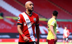 SOUTHAMPTON, ENGLAND - APRIL 04: Nathan Redmond of during the Premier League match between Southampton and Burnley at St Mary's Stadium on April 04, 2021 in Southampton, England. Sporting stadiums around the UK remain under strict restrictions due to the Coronavirus Pandemic as Government social distancing laws prohibit fans inside venues resulting in games being played behind closed doors. (Photo by Matt Watson/Southampton FC via Getty Images)