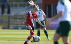 SOUTHAMPTON, ENGLAND - APRIL 04: Phoebe Williams of Southampton during the Vitality Women's FA Cup second round match between Southampton Women and Plymouth Argyle Women at The Snows Stadium on April 04, 2021 in Southampton, England. (Photo by Isabelle Field/Southampton FC via Getty Images)