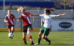 SOUTHAMPTON, ENGLAND - APRIL 04: Kelly Snook (L) of Southampton during the Vitality Women's FA Cup second round match between Southampton Women and Plymouth Argyle Women at The Snows Stadium on April 04, 2021 in Southampton, England. (Photo by Isabelle Field/Southampton FC via Getty Images)