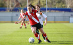 SOUTHAMPTON, ENGLAND - APRIL 04: Ella Pusey of Southampton during the Vitality Women's FA Cup second round match between Southampton Women and Plymouth Argyle Women at The Snows Stadium on April 04, 2021 in Southampton, England. (Photo by Isabelle Field/Southampton FC via Getty Images)