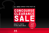 Concourse Sale: Save big this weekend
