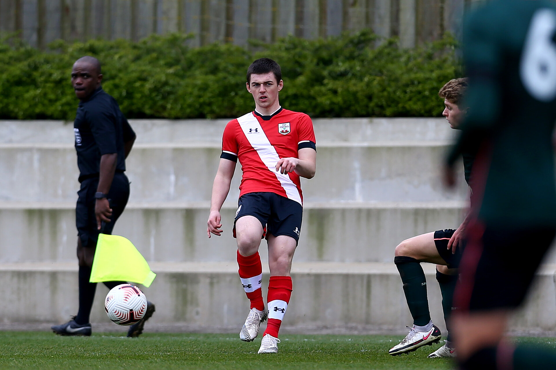 SOUTHAMPTON, ENGLAND - APRIL 10: Matt Carson of Southampton during the Premier League U18s match between Southampton U18 and Tottenham Hotspur at Staplewood Campus on April 10, 2021 in Southampton, England. (Photo by Isabelle Field/Southampton FC via Getty Images)