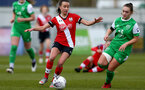SOUTHAMPTON, ENGLAND - APRIL 11: Sophia Pharoah (L) of Southampton during the Vitality Women's FA Cup third round match between Southampton Women and Yeovil United Women at The Snows Stadium on April 11, 2021 in Southampton, England. (Photo by Isabelle Field/Southampton FC via Getty Images)