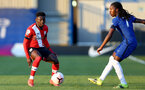KINGSTON UPON THAMES, LONDON, ENGLAND - APRIL 12: Kazeem Olaigbe (L) of Southampton during the Premier League 2 match between U23 Chelsea FC and Southampton B Team at the Kingsmeadow Stadium on April 12, 2021 in Kingston upon Thames, London, England.  (Photo by Isabelle Field/Southampton FC via Getty Images)