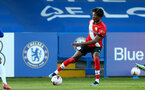 KINGSTON UPON THAMES, LONDON, ENGLAND - APRIL 12: Ramello Mitchell of Southampton during the Premier League 2 match between U23 Chelsea FC and Southampton B Team at the Kingsmeadow Stadium on April 12, 2021 in Kingston upon Thames, London, England.  (Photo by Isabelle Field/Southampton FC via Getty Images)