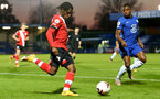 KINGSTON UPON THAMES, LONDON, ENGLAND - APRIL 12: Zuriel Otseh-Taiwo (L) of Southampton during the Premier League 2 match between U23 Chelsea FC and Southampton B Team at the Kingsmeadow Stadium on April 12, 2021 in Kingston upon Thames, London, England.  (Photo by Isabelle Field/Southampton FC via Getty Images)