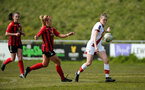 LEWES, ENGLAND - APRIL 18: Ella Pusey during the Women's FA Cup 4th round match between Lewes FC and Southampton at The Dripping Pan on April 18, 2021 in Lewes, United Kingdom. Sporting stadiums around the UK remain under strict restrictions due to the Coronavirus pandemic as UK government social distancing laws prohibit fans inside venues resulting in games being played behind closed doors. (Photo by Chris Moorhouse/Southampton FC via Getty Images)