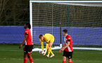 LEICESTER, ENGLAND - APRIL 19: Jack Bycroft  of Southampton during the Premier League 2 match between Leicester City and Southampton B Team at the Leicester City Training Ground on April 19, 2021 in Leicester, England.  (Photo by Isabelle Field/Southampton FC via Getty Images)