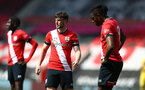 SOUTHAMPTON, ENGLAND - MAY 02: Will Ferry (L) of Southampton during the Premier League 2 match between Southampton B Team and Everton at the St Mayr's Stadium on May 02, 2021 in Southampton, England.  (Photo by Isabelle Field/Southampton FC via Getty Images)