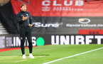 SOUTHAMPTON, ENGLAND - MAY 11: Southampton manager Ralph Hasenhüttl during the Premier League match between Southampton and Crystal Palace at St Mary's Stadium on May 11, 2021 in Southampton, England. Sporting stadiums around the UK remain under strict restrictions due to the Coronavirus Pandemic as Government social distancing laws prohibit fans inside venues resulting in games being played behind closed doors.  (Photo by Matt Watson/Southampton FC via Getty Images)