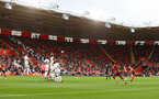 SOUTHAMPTON, ENGLAND - MAY 18: James Ward-Prowse of Southampton takes a free kick during the Premier League match between Southampton and Leeds United at St Mary's Stadium on May 18, 2021 in Southampton, England. (Photo by Matt Watson/Southampton FC via Getty Images)