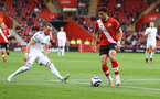 SOUTHAMPTON, ENGLAND - MAY 18: Che Adams of Southampton during the Premier League match between Southampton and Leeds United at St Mary's Stadium on May 18, 2021 in Southampton, England. (Photo by Matt Watson/Southampton FC via Getty Images)