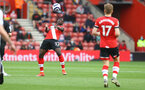 SOUTHAMPTON, ENGLAND - MAY 18: Mohammed Salisu of Southampton during the Premier League match between Southampton and Leeds United at St Mary's Stadium on May 18, 2021 in Southampton, England. (Photo by Matt Watson/Southampton FC via Getty Images)