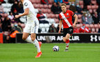 SOUTHAMPTON, ENGLAND - MAY 18: Stuart Armstrong of Southampton during the Premier League match between Southampton and Leeds United at St Mary's Stadium on May 18, 2021 in Southampton, England. (Photo by Matt Watson/Southampton FC via Getty Images)