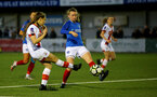 HAVANT, ENGLAND - MAY 19: Georgie Freeland(L) of Southampton during the Hampshire FA Women's Senior Cup Final against Portsmouth Women and Southampton Women at Westleigh Park on May 19, 2021 in Havant, England. (Photo by Isabelle Field/Southampton FC via Getty Images)