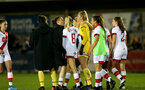 HAVANT, ENGLAND - MAY 19: Southampton players console each other after the penalty shoot out during the Hampshire FA Women's Senior Cup Final against Portsmouth Women and Southampton Women at Westleigh Park on May 19, 2021 in Havant, England. (Photo by Isabelle Field/Southampton FC via Getty Images)