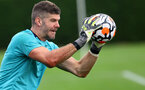 SOUTHAMPTON, ENGLAND - JULY 08: Fraser Forster during a Southampton FC pre season training session at the Staplewood Campus on July 08, 2021 in Southampton, England. (Photo by Matt Watson/Southampton FC via Getty Images)