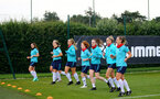 SOUTHAMPTON, ENGLAND - July 08: during Southampton Women's per season training session at Staplewood training ground on July 08, 2021 in Southampton, England. (Photo by Isabelle Field/Southampton FC via Getty Images)