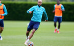 SOUTHAMPTON, ENGLAND - JULY 13: Nathan Redmond during pre-season training session at Staplewood Complex on July 13, 2021 in Southampton, England. (Photo by Isabelle Field/Southampton FC via Getty Images)