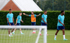 SOUTHAMPTON, ENGLAND - JULY 13: Danny Ings(center) during pre-season training session at Staplewood Complex on July 13, 2021 in Southampton, England. (Photo by Isabelle Field/Southampton FC via Getty Images)