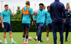 SOUTHAMPTON, ENGLAND - JULY 13: Kyle Walker-Peters during pre-season training session at Staplewood Complex on July 13, 2021 in Southampton, England. (Photo by Isabelle Field/Southampton FC via Getty Images)