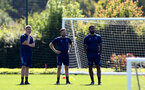 SOUTHAMPTON, ENGLAND - July 14: U18s coaching staff during Southampton U18s per season training session at Staplewood training ground on July 14, 2021 in Southampton, England. (Photo by Isabelle Field/Southampton FC via Getty Images)