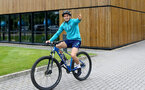 SOUTHAMPTON, ENGLAND - JULY 15: Romain Perraud during team building cycle ride around Deerleap, New Forest on July 15, 2021 in Southampton, England. (Photo by Isabelle Field/Southampton FC via Getty Images)
