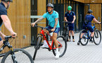 SOUTHAMPTON, ENGLAND - JULY 15: Danny Ings during team building cycle ride around Deerleap, New Forest on July 15, 2021 in Southampton, England. (Photo by Isabelle Field/Southampton FC via Getty Images)