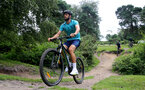 SOUTHAMPTON, ENGLAND - JULY 15: Jack Stephens during team building cycle ride around Deerleap, New Forest on July 15, 2021 in Southampton, England. (Photo by Isabelle Field/Southampton FC via Getty Images)