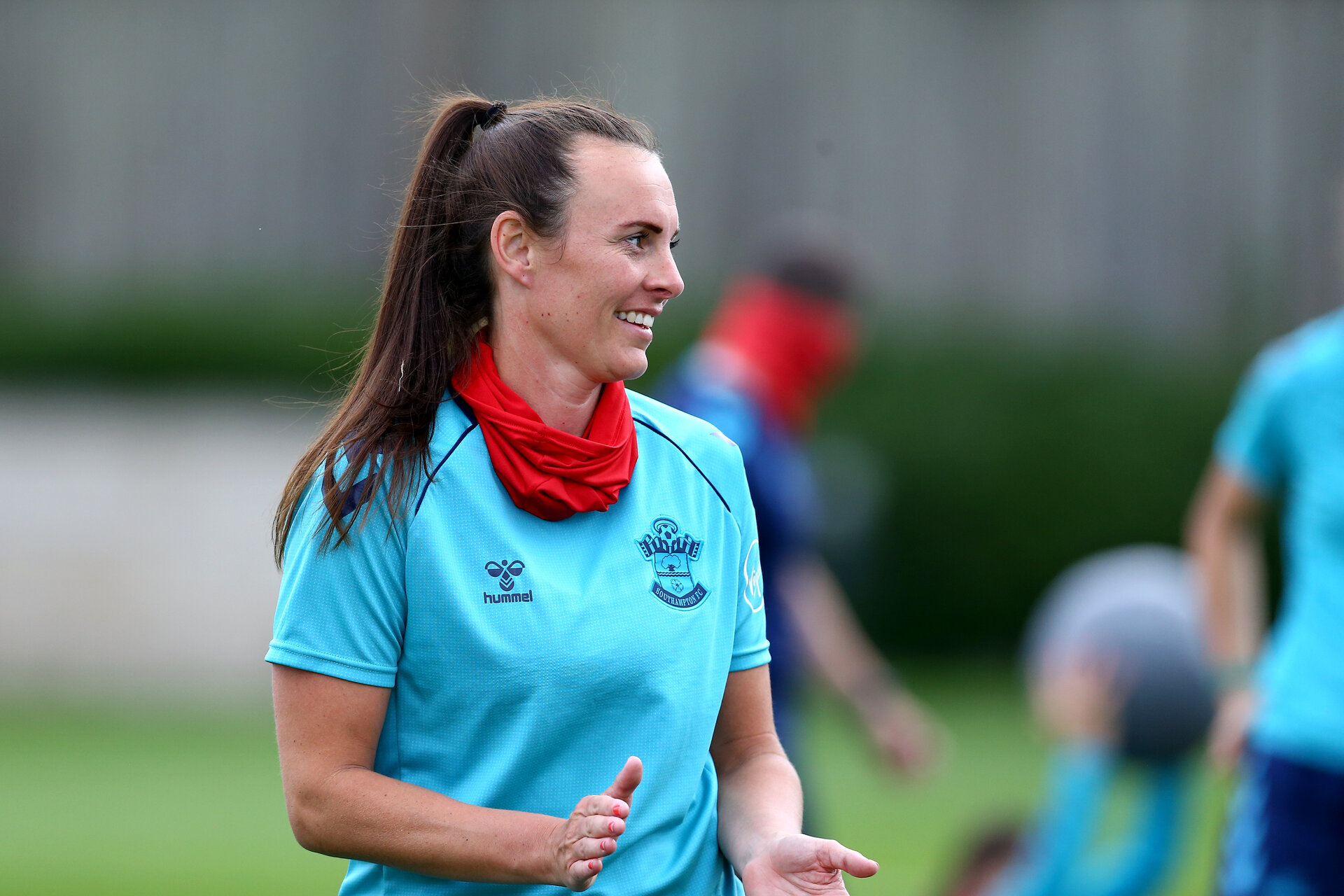 SOUTHAMPTON, ENGLAND - JULY 15: Leeta Rutherford during Southampton Women's per-season training session at Staplewood Complex on July 15, 2021 in Southampton, England. (Photo by Isabelle Field/Southampton FC via Getty Images)