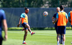 SOUTHAMPTON, ENGLAND - JULY 16: Theo Walcott during pre-season training session at Staplewood Complex on July 16, 2021 in Southampton, England. (Photo by Isabelle Field/Southampton FC via Getty Images)