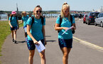 SOUTHAMPTON, ENGLAND - July 18: Ella Pusey(L) and Rosie Parnell(R)  during Southampton Women team building activity around Southampton City Center on July 18, 2021 in Southampton, England. (Photo by Isabelle Field/Southampton FC via Getty Images)