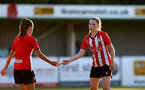 SOUTHAMPTON, ENGLAND - July 20: Alisha Ware(R) of Southampton during per-season friendly between Saints Women and Southampton Women Development team at The Snows Stadium on July 20, 2021 in Southampton, England. (Photo by Isabelle Field/Southampton FC via Getty Images)