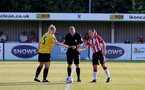 SOUTHAMPTON, ENGLAND - July 20: Shannon Sievwright(R) of Southampton ahead of per-season friendly between Saints Women and Southampton Women Development team at The Snows Stadium on July 20, 2021 in Southampton, England. (Photo by Isabelle Field/Southampton FC via Getty Images)